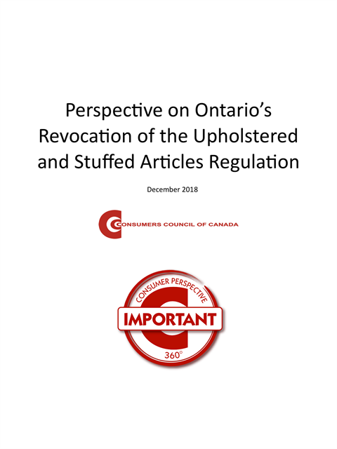 Perspective on Ontario's Revocation of the Upholstered and Stuffed Articles Regulation [PDF]