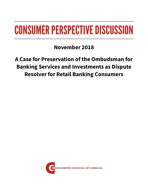 A Case for Preservation of the Ombudsman for Banking Services and Investments [PDF]