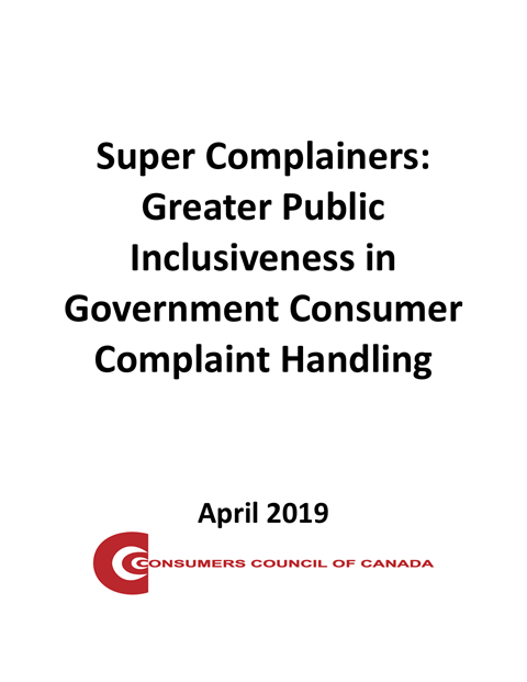Super Complainers: Greater Public Inclusiveness in Government Consumer Complaint Handling [EPUB]