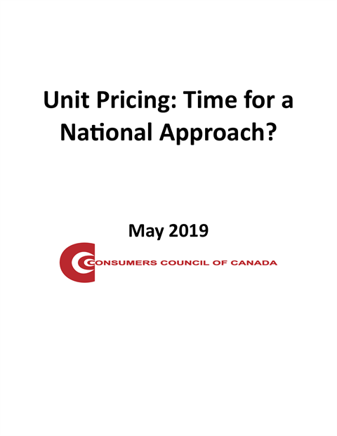 Unit Pricing: Time for a National Approach