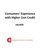 Consumers' Experience with Higher Cost Credit [EPUB]