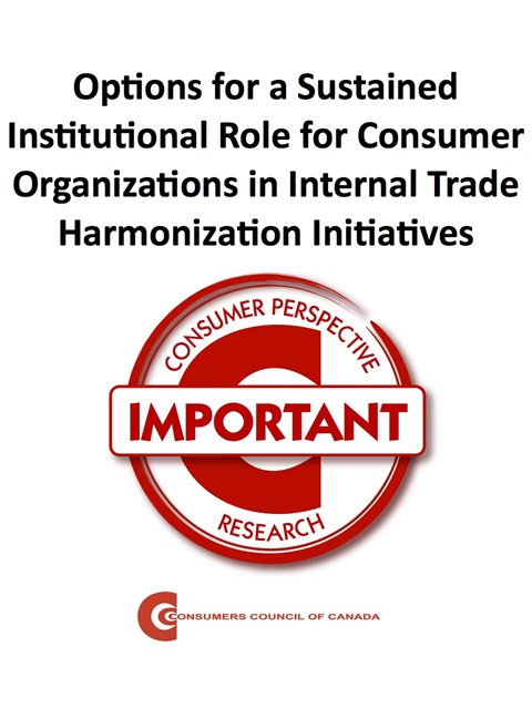 A 'Sustained Institutional Role' for Consumer Organizations in 'Internal Trade' Harmonization