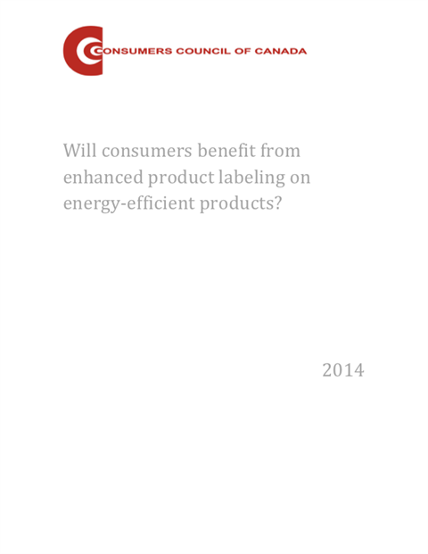 Will Consumers Benefit from Enhanced Product Labeling on Energy-Efficient Products? [PDF]