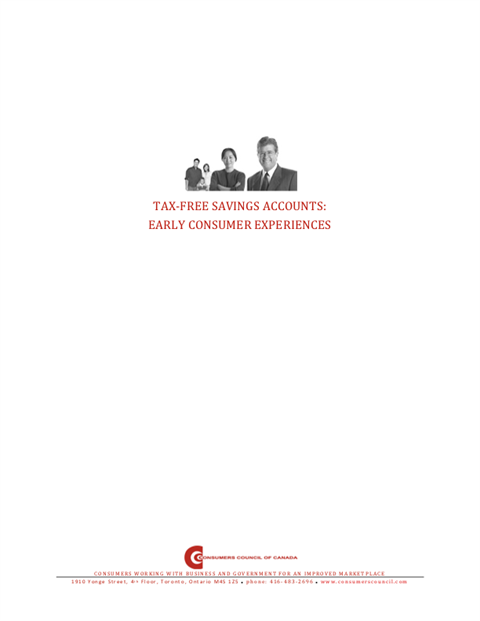 Tax-Free Savings Accounts: Early Consumer Experiences [PDF]