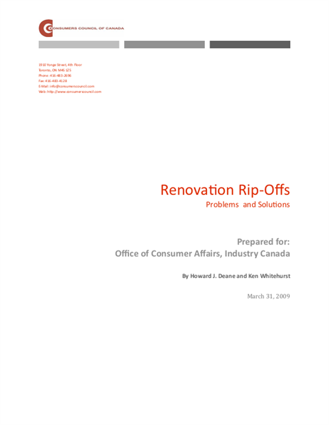 Renovation Rip-Offs: Problems and Solutions
