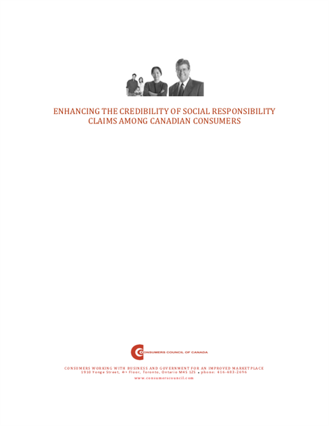 Enhancing the Credibility of Social Responsibility Claims Among Canadian Consumers [PDF]