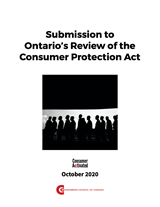 Submission to Ontario's Review of the Consumer Protection Act, 2020 - EPUB